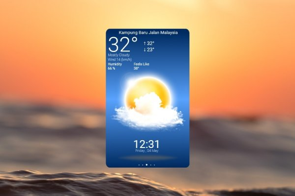 Beautiful Weather App Rainmeter Skin #3