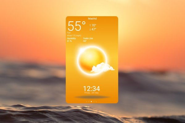 Beautiful Weather App Rainmeter Skin #1