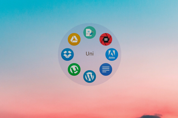 Animated Circular Icon Launcher Rainmeter Skin #1