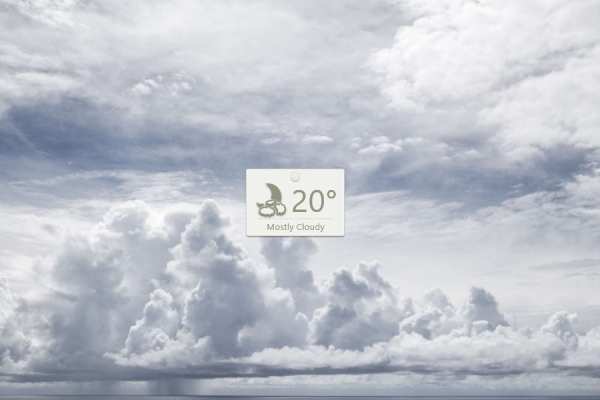 Thumby Weather Rainmeter Skin #2