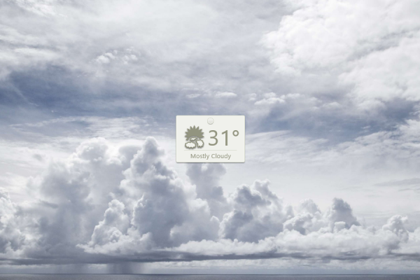Thumby Weather Rainmeter Skin #1