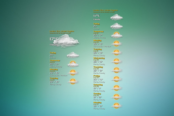 VClouds Weather Rainmeter Skin #2