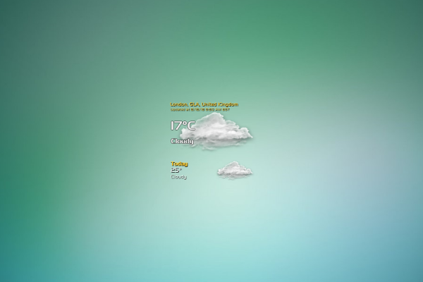VClouds Weather Rainmeter Skin #3