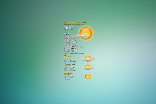 VClouds Weather Rainmeter Skin #1