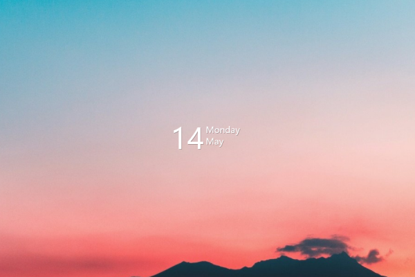 Simple Calendar V1 Rainmeter Skin #2