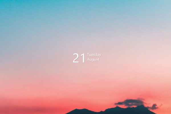 Simple Calendar V1 Rainmeter Skin #1