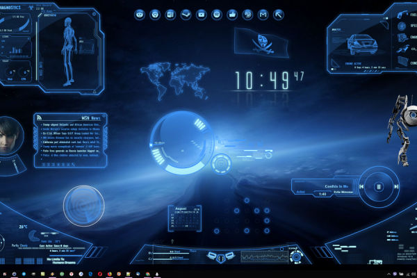 Neon Space Rainmeter Skin #1