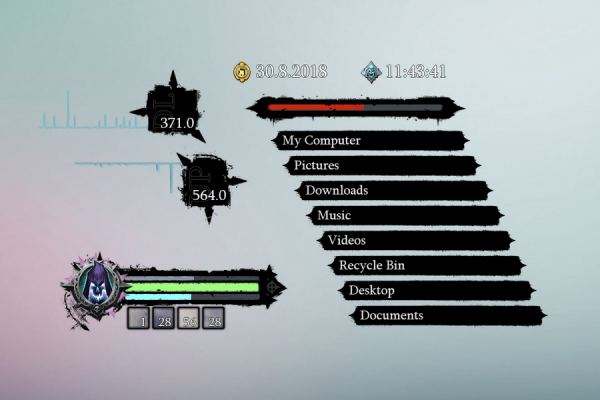 Darksiders 2 Death Lives Rainmeter Skin #2