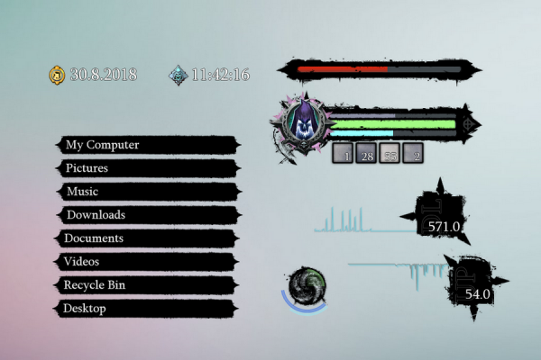 Darksiders 2 Death Lives Rainmeter Skin #1