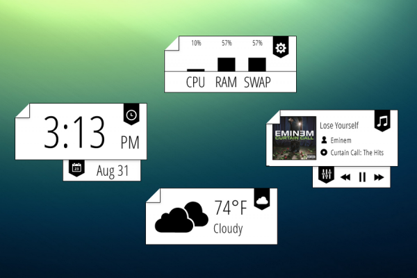 Bookmarked Rainmeter Skin #2