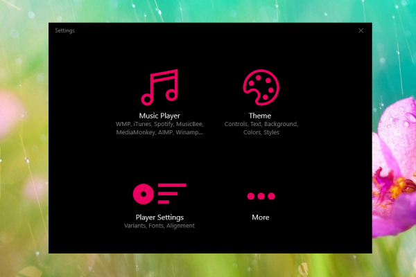 Stylish Music Player Rainmeter Skin #5
