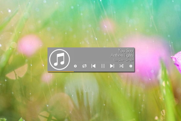 Stylish Music Player Rainmeter Skin #1