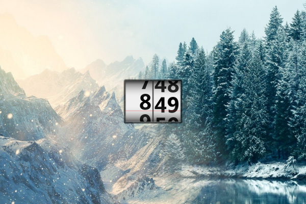 Scroll Time Rainmeter Skin #1