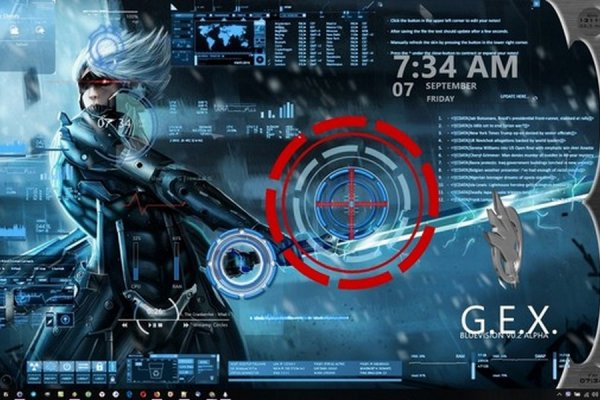 Metal Gear Rising Animated Desktop Rainmeter Skin #1