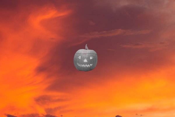 Halloween Pumpkin Rainmeter Skin #2