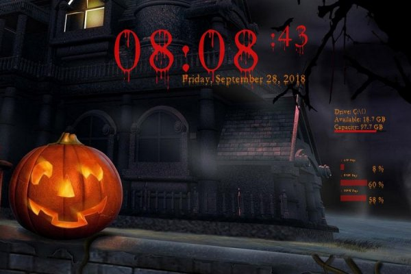 Bloody Halloween Rainmeter Skin #1