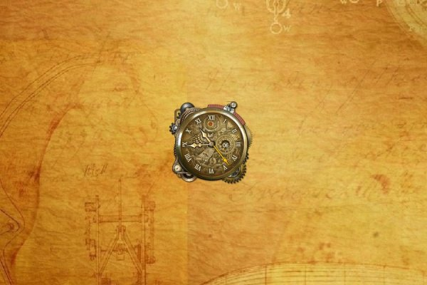 Steampunk Watch Rainmeter Skin #2