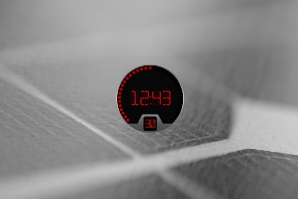 Stylish Digital Clock Rainmeter Skin #1
