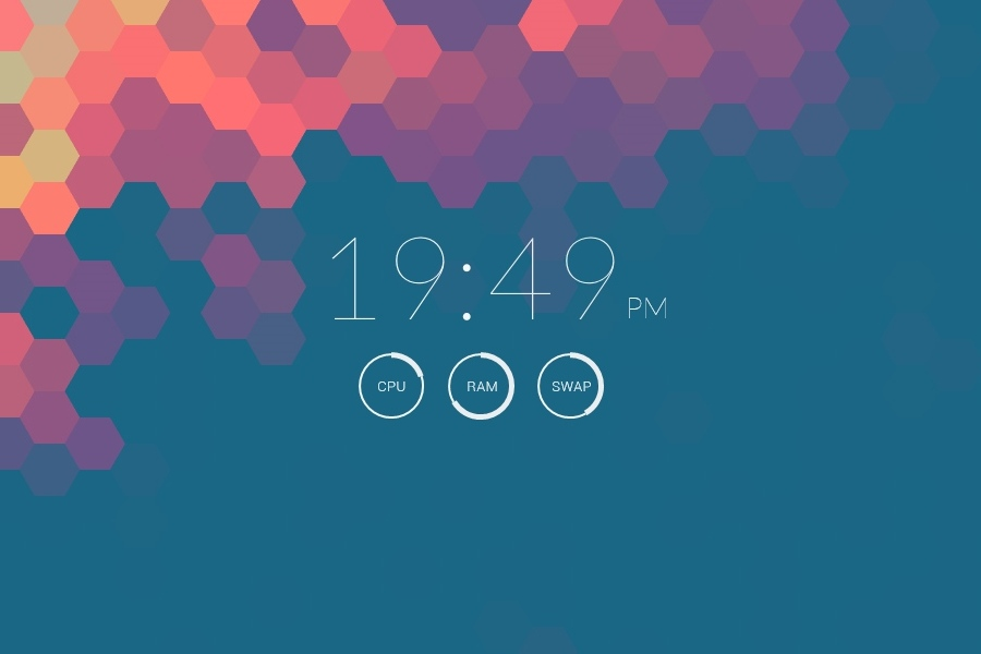 Clear - Simple Time and System Rainmeter Skin