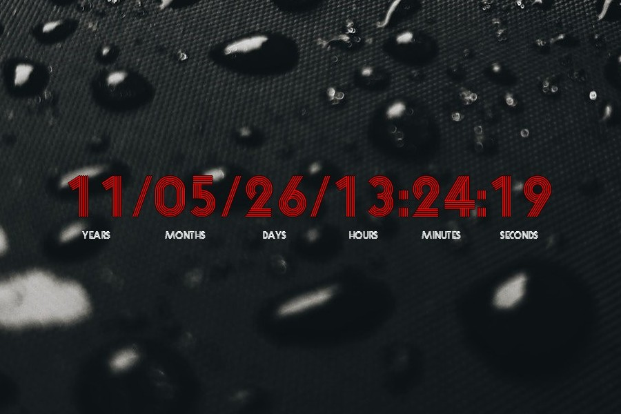 Countdown Timer Rainmeter Skin