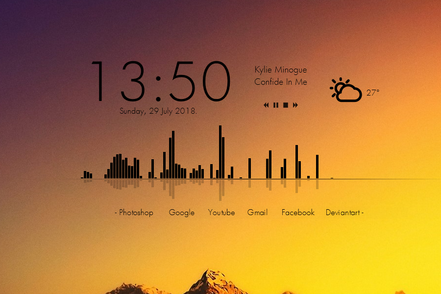 simple clean rainmeter theme