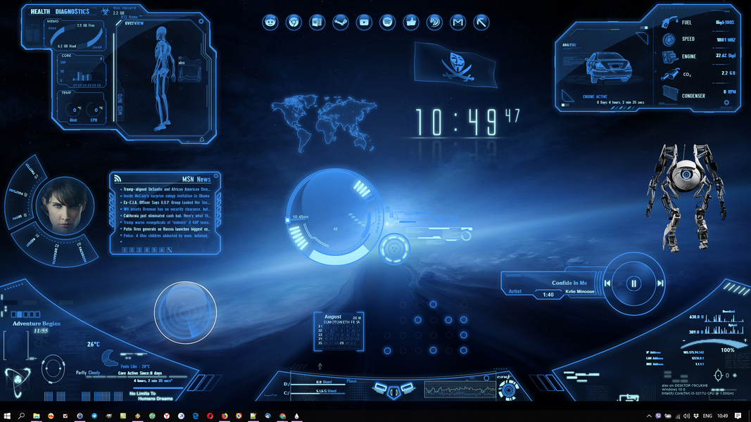 Neon Space Rainmeter Theme
