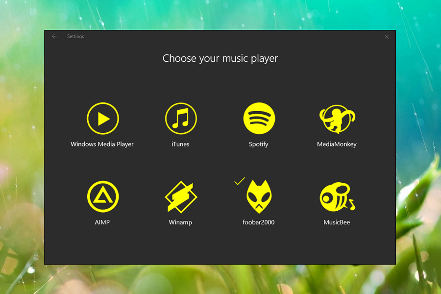Stylish Music Player Rainmeter Skin