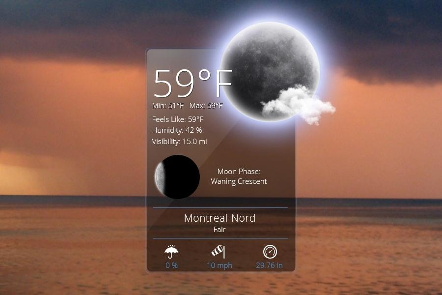 Weather App Rainmeter Skin