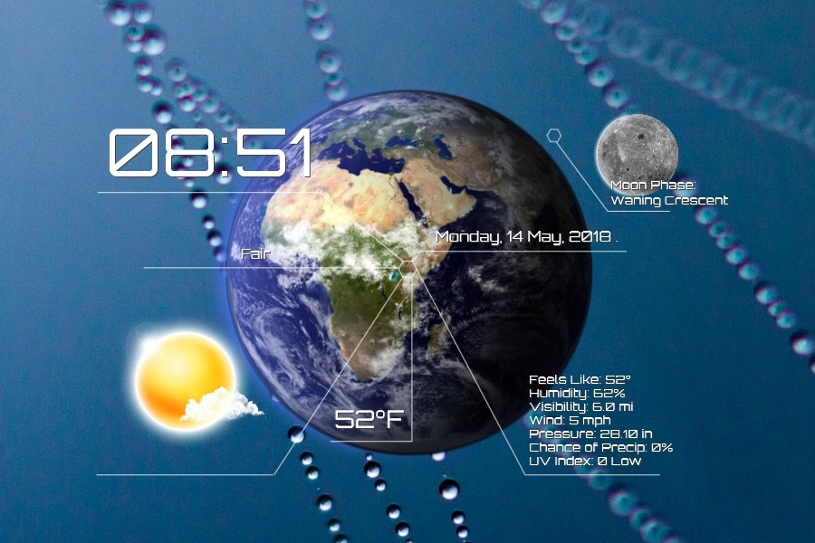 Future Weather Forecast Rainmeter Skin